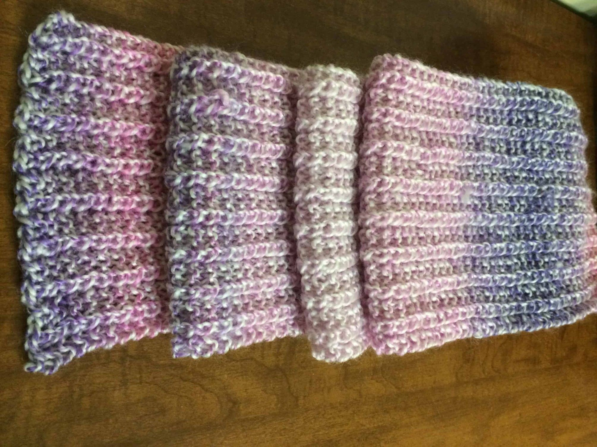 Pink One Row Scarf