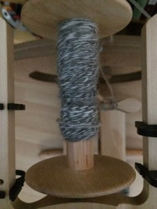 This tiny little bit of plying already has 5 knots in it.