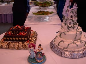 When Chris and I got married, I made our bride's and groom's cakes.